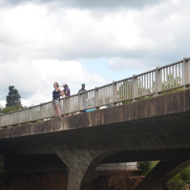 Waiting to jump off a bridge in South Africa